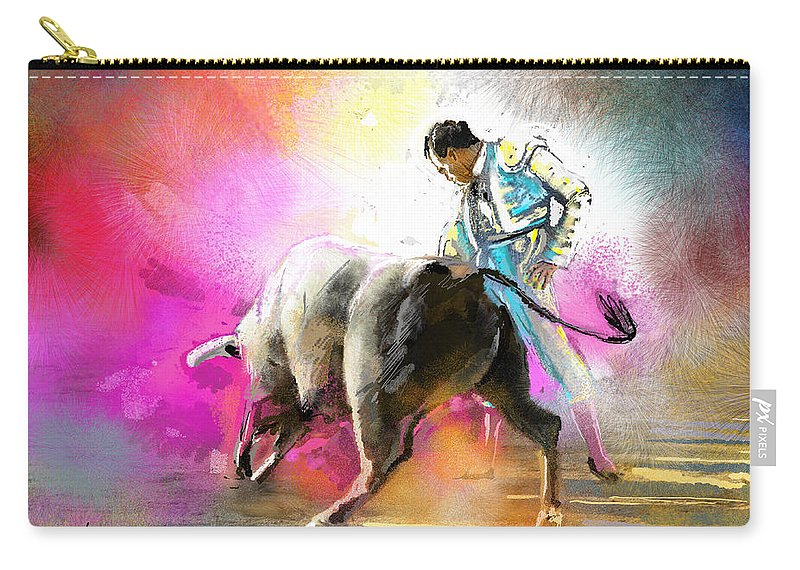 Animals Carry-all Pouch featuring the painting Toroscape 44 by Miki De Goodaboom