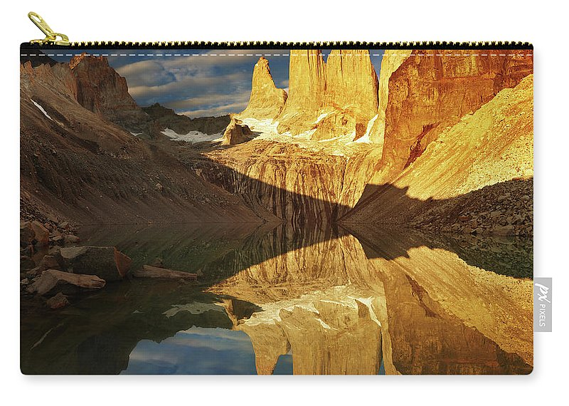 America Carry-all Pouch featuring the photograph Torres Del Paine by Dmitry Pichugin