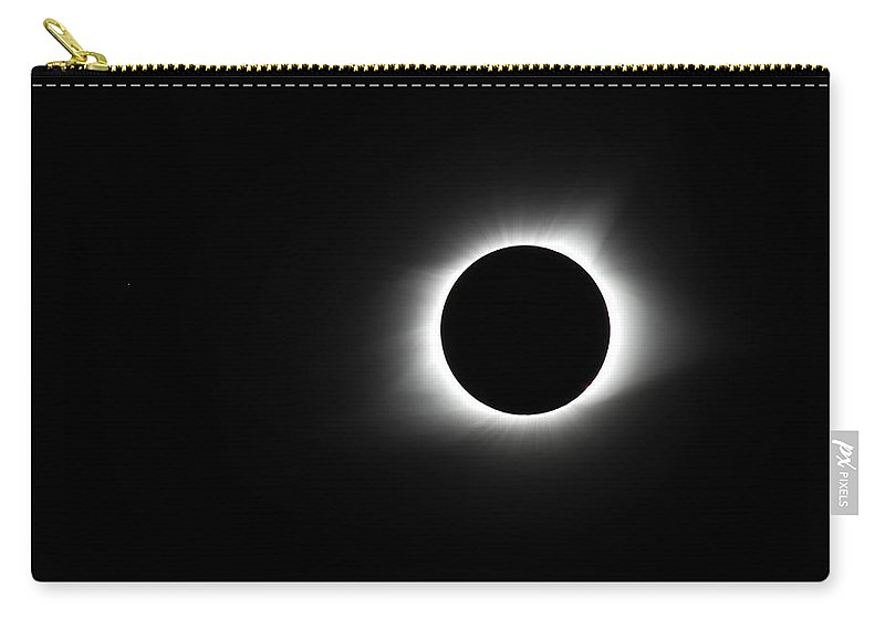 Sun Carry-all Pouch featuring the photograph Totality by Leah Palmer