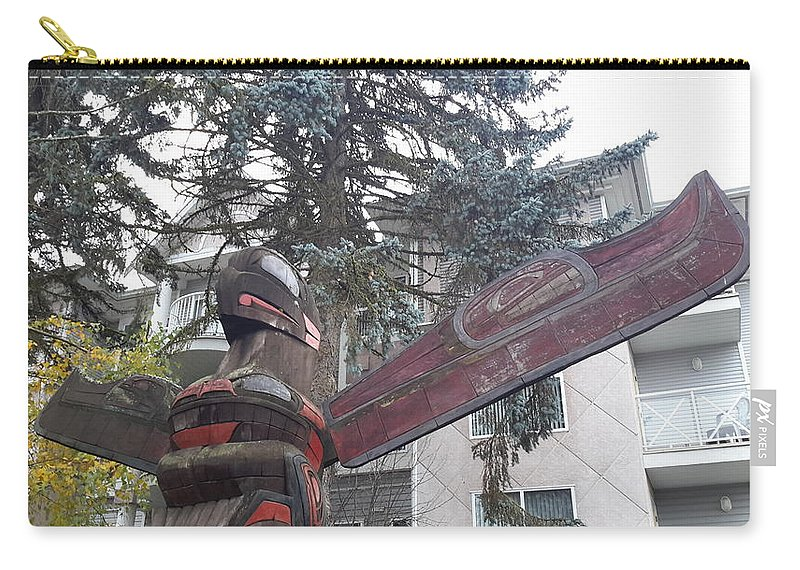 City Of Totems Carry-all Pouch featuring the photograph Totem 2 by Les Polgar