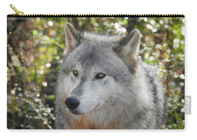 Wolf Carry-all Pouch featuring the photograph Totem, No. 28 by Elie Wolf