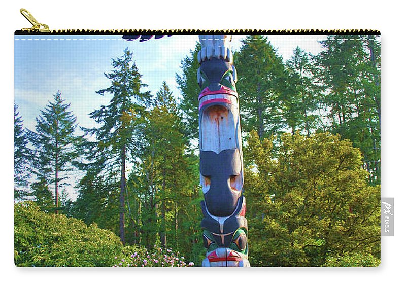 Scenic Carry-all Pouch featuring the photograph Totem Pole by Richard Jenkins