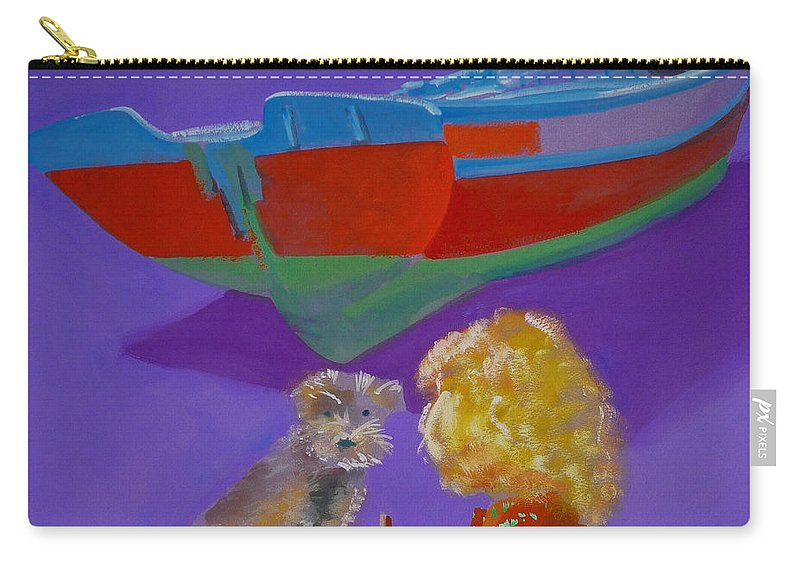 Blonde Carry-all Pouch featuring the painting Toto by Charles Stuart