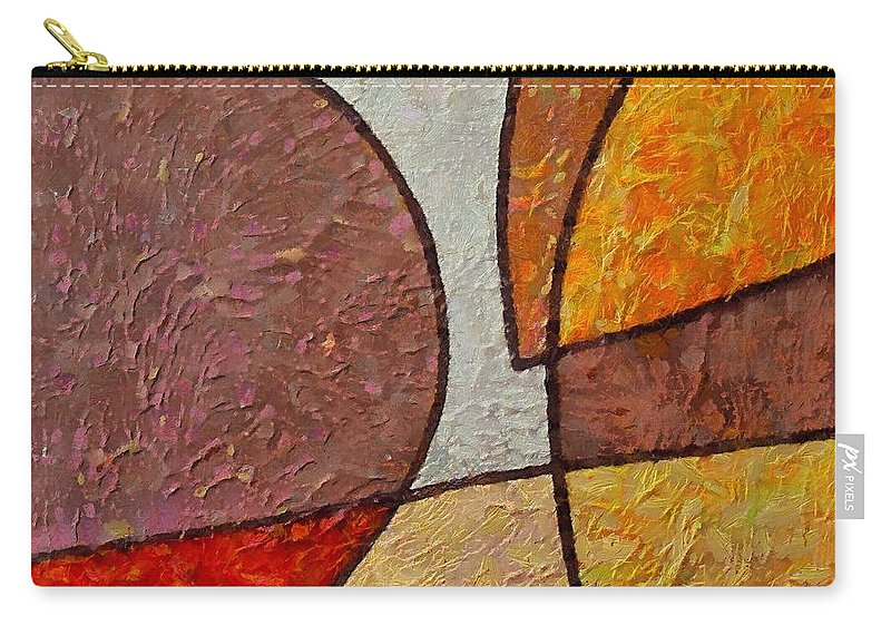 Mixed Media Carry-all Pouch featuring the mixed media Touch by Dragica Micki Fortuna