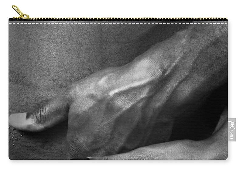 Nude Carry-all Pouch featuring the photograph Touch Me There by Ed Silvera