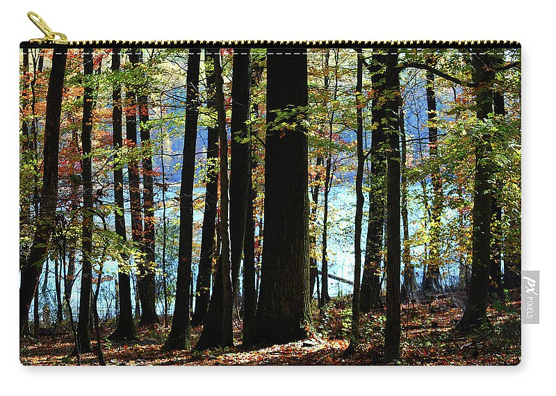 Autumn Carry-all Pouch featuring the photograph Touch Of Autumn by Lori Tambakis