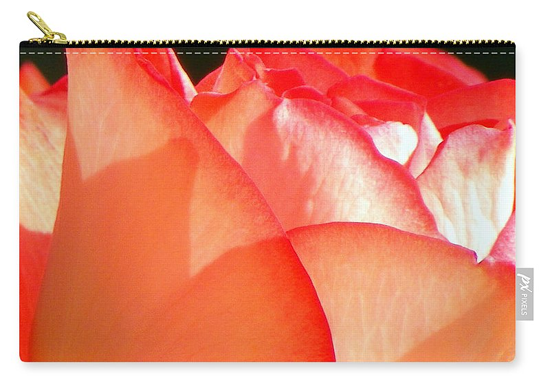 Flowers Carry-all Pouch featuring the photograph Touch Of Rose by Karen Wiles