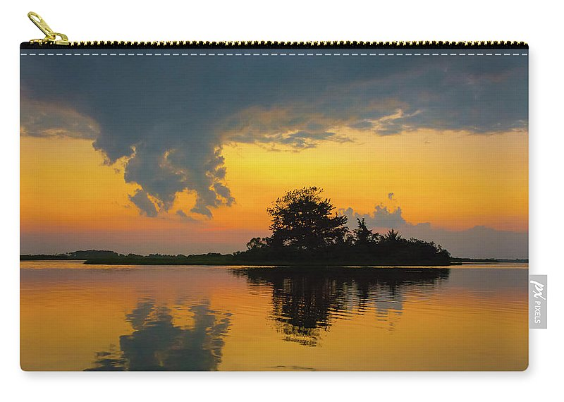 Sunset Carry-all Pouch featuring the photograph Touch The Sky by Jodi Lyn Jones