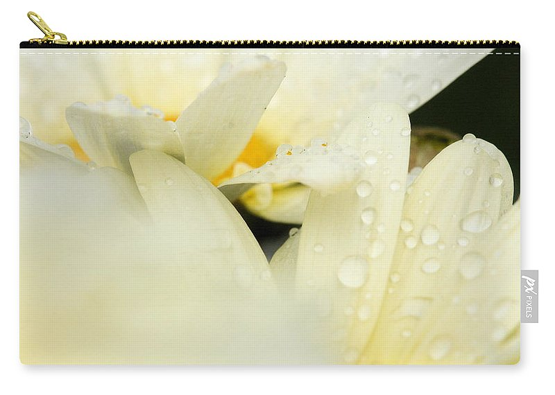 Daisy Carry-all Pouch featuring the photograph Touching by Angela Rath