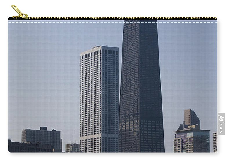 Chicago Windy City Skyscraper Building High Tall Big Blue Sky Urban Metro Carry-all Pouch featuring the photograph Touching The Sky by Andrei Shliakhau