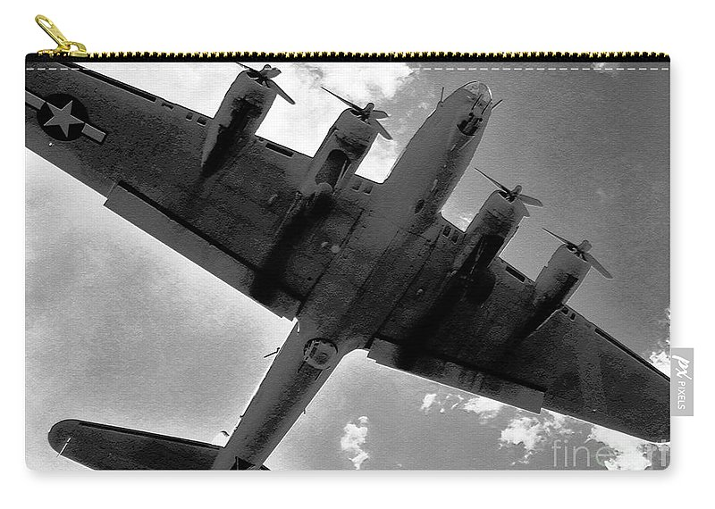B 17 Carry-all Pouch featuring the photograph Tough Old Bird by David Lee Thompson
