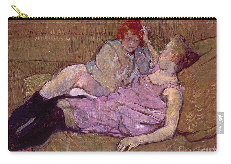 1894 Carry-all Pouch featuring the photograph Toulouse Lautrec The Sofa by Granger