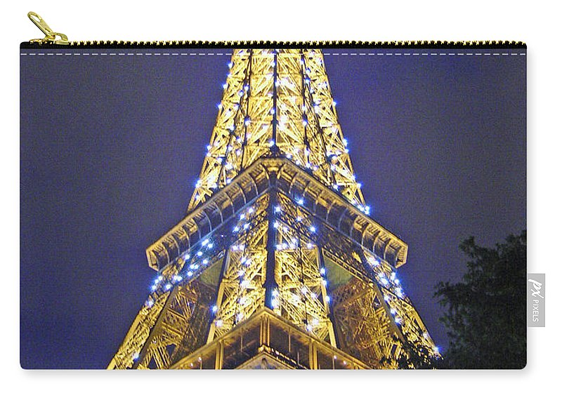 Eiffel Tower Paris France Carry-all Pouch featuring the photograph Tour Eiffel 2007 by Joanne Smoley