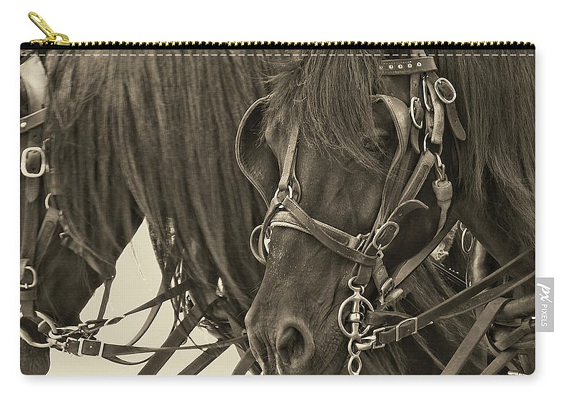 Horse Carry-all Pouch featuring the photograph Tour Lexington Pair by JAMART Photography