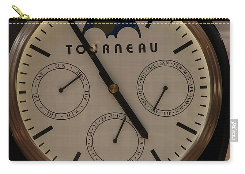 Clock Carry-all Pouch featuring the photograph Tourneau by Rob Hans