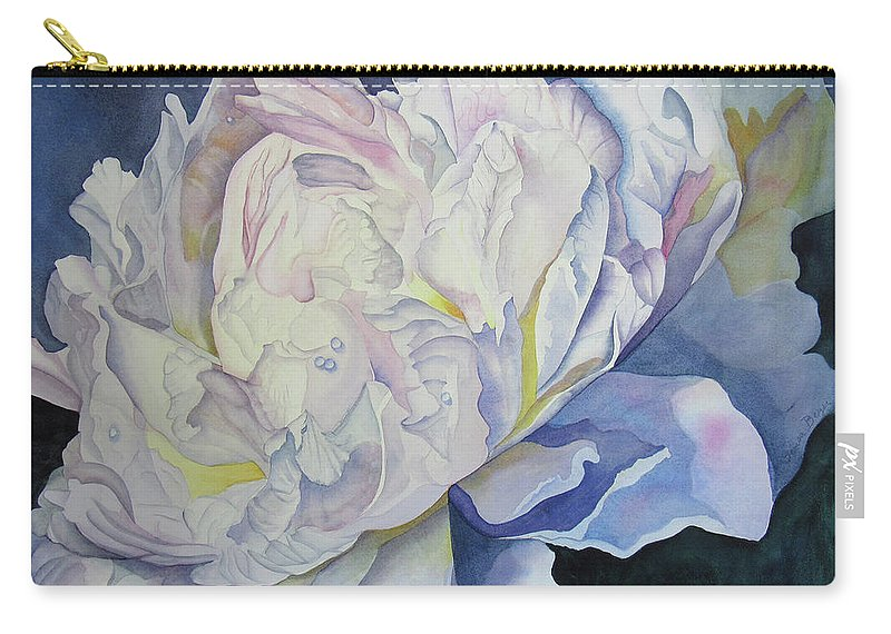 Floral Carry-all Pouch featuring the painting Toward The Light by Teresa Beyer