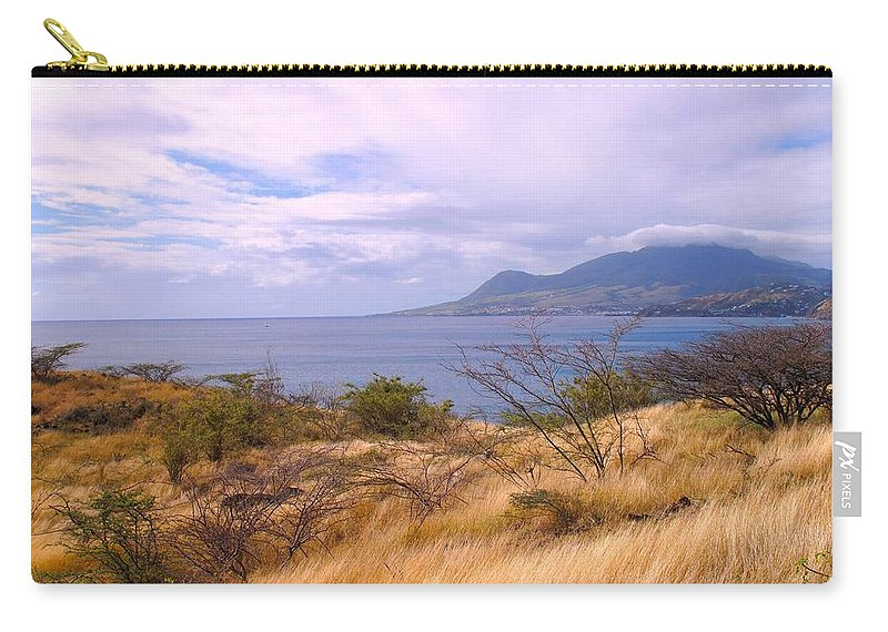 St Kitts Carry-all Pouch featuring the photograph Towards Basseterre by Ian MacDonald