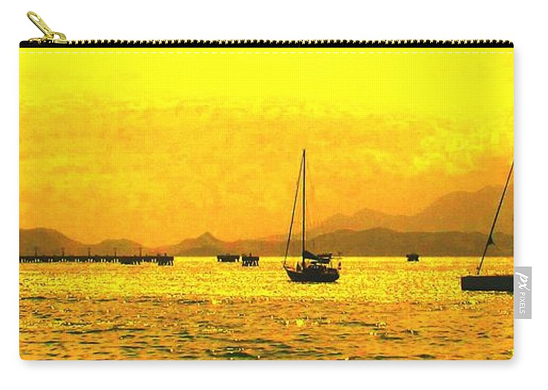 Basseterre Carry-all Pouch featuring the photograph Towards Nevis by Ian MacDonald