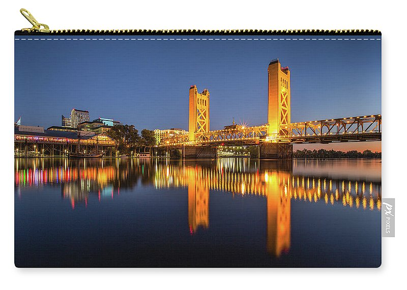 Bridge Carry-all Pouch featuring the photograph Tower Bridge by Greg Mitchell Photography