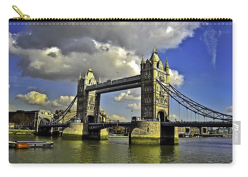 Bridge Carry-all Pouch featuring the photograph Tower Bridge I by Madeline Ellis