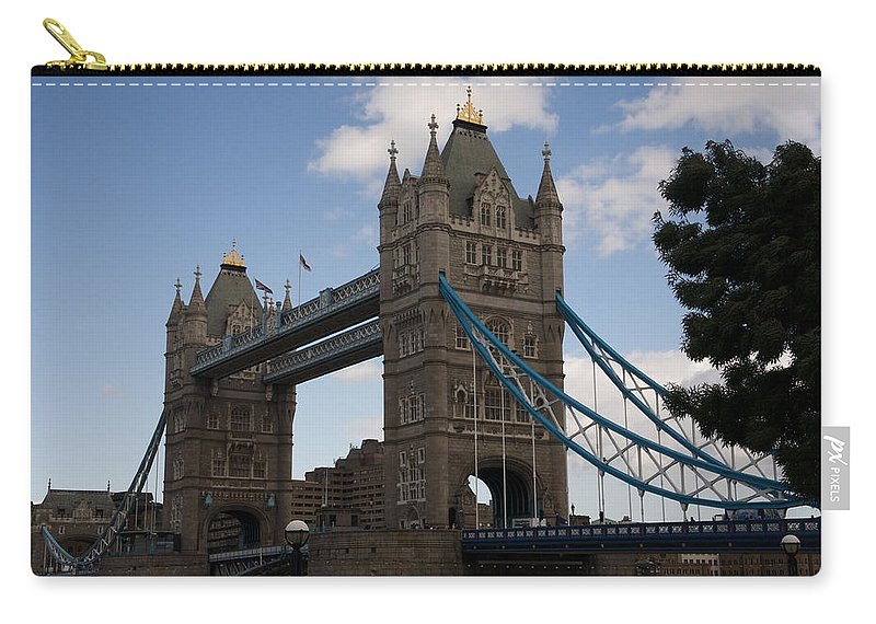 Towers Carry-all Pouch featuring the photograph Tower Bridge London by Christopher Rowlands
