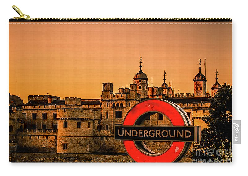 London Carry-all Pouch featuring the photograph Tower Of London. by Nigel Dudson
