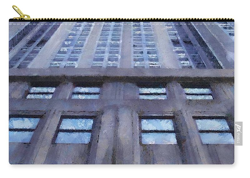 Empire State Building Carry-all Pouch featuring the painting Tower Of Steel And Stone by Jeffrey Kolker