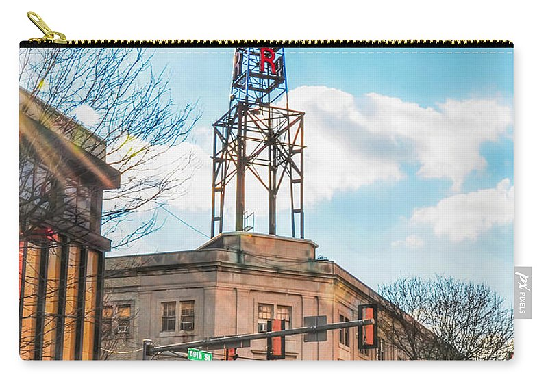 Tower Carry-all Pouch featuring the photograph Tower Theater - Upper Darby Pa by Bill Cannon