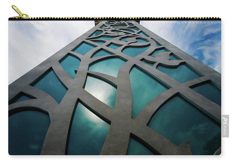 Decorative Post Carry-all Pouch featuring the photograph Towering Post by Doug Sturgess