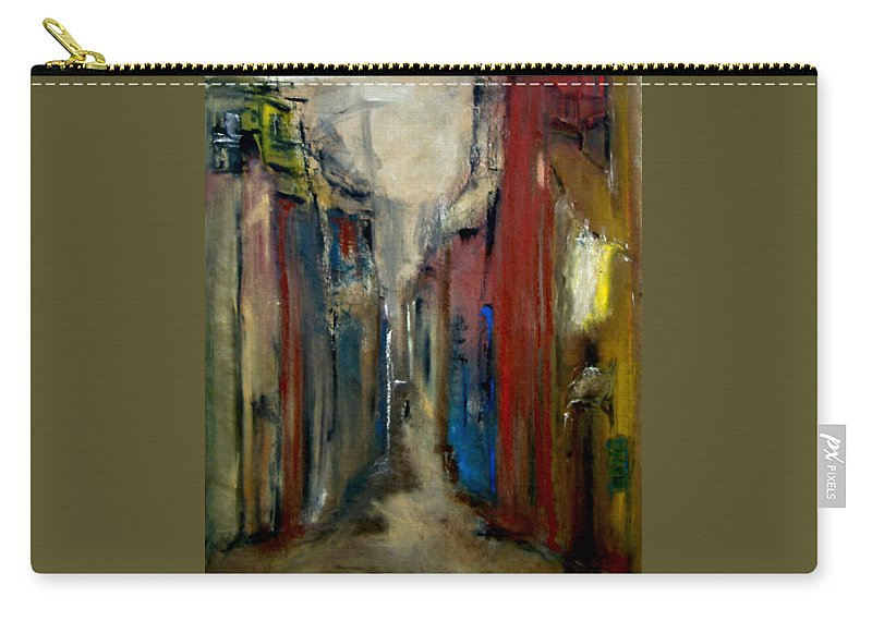 Abstract Carry-all Pouch featuring the painting Town by Rome Matikonyte