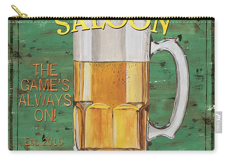 Beer Carry-all Pouch featuring the painting Township Saloon by Debbie DeWitt