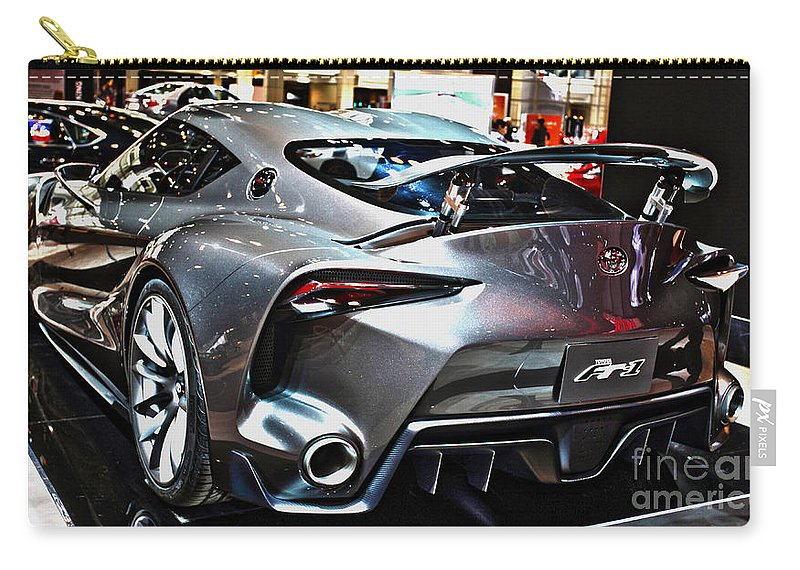Auto Carry-all Pouch featuring the photograph Toyota Ft-1 Concept Number 1 by Alan Look
