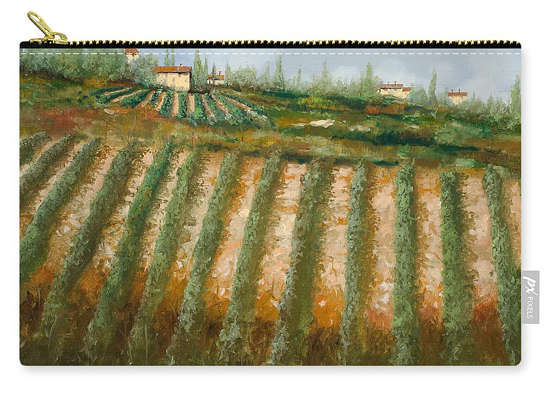 Vineyard Carry-all Pouch featuring the painting Tra I Filari Nella Vigna by Guido Borelli