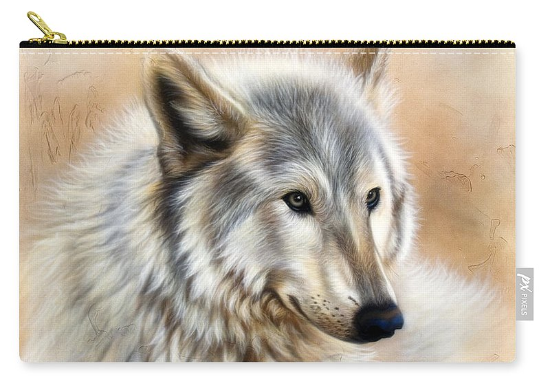 Acrylic Carry-all Pouch featuring the painting Trace by Sandi Baker