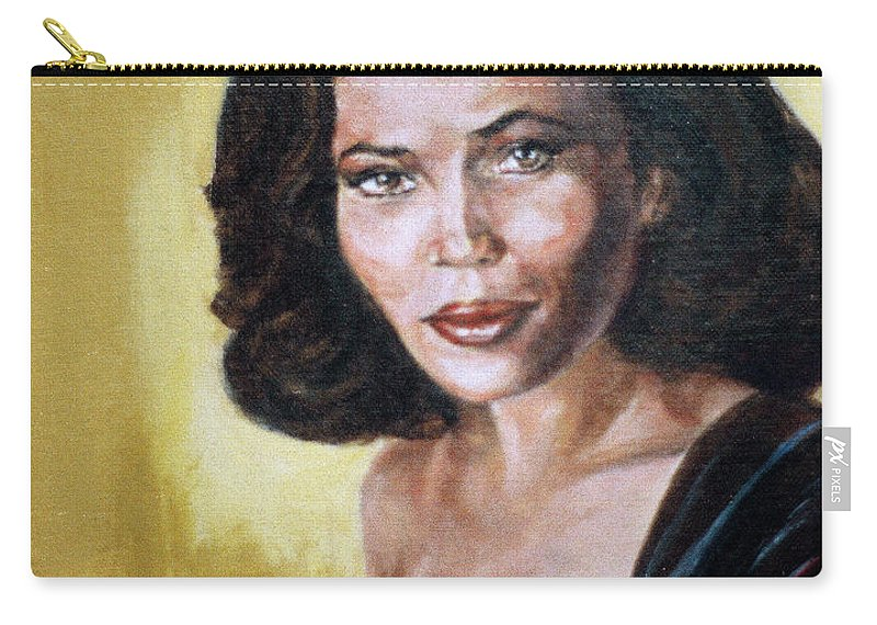 Tracey Ross Carry-all Pouch featuring the painting Tracey Ross by Bryan Bustard