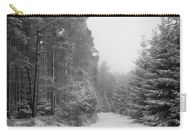 Carry-all Pouch featuring the photograph Track, Winter, Slaley Woods by Iain Duncan