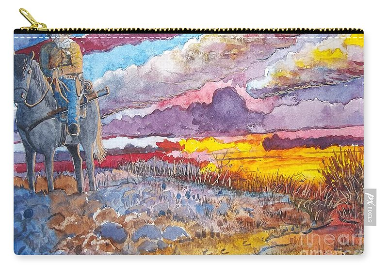 Horse Carry-all Pouch featuring the painting Tracking by Don Hand