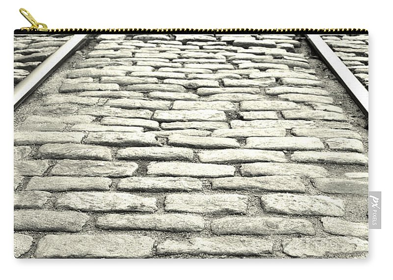 Rails Carry-all Pouch featuring the photograph Tracks In The Road by Gary Smith