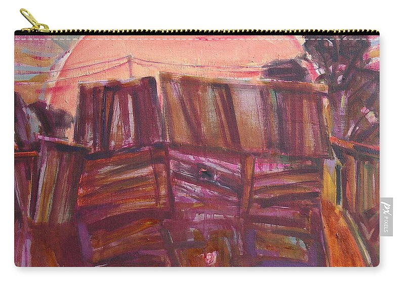 Oil Carry-all Pouch featuring the painting Tracks by Sergey Ignatenko