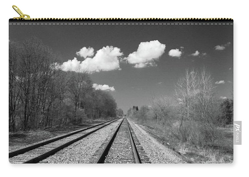 Railroad Carry-all Pouch featuring the photograph Tracks To Nowhere 1520 by Guy Whiteley
