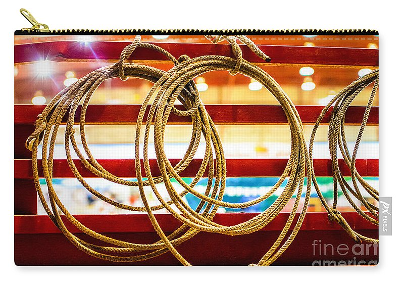 Cowboy Carry-all Pouch featuring the photograph Trade Tools Of A Rodeo Cowboy by Rene Triay Photography
