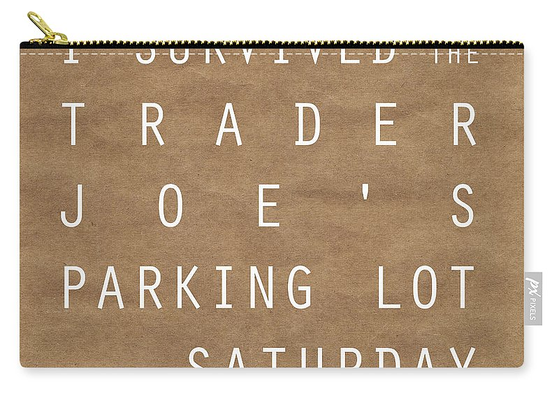 Shopping Carry-all Pouch featuring the digital art Trader Joe's Parking Lot by Linda Woods