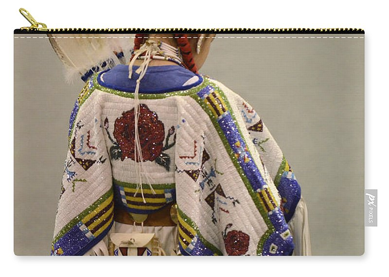 Pow Wow Carry-all Pouch featuring the photograph Pow Wow Traditional Dancer 1 by Bob Christopher