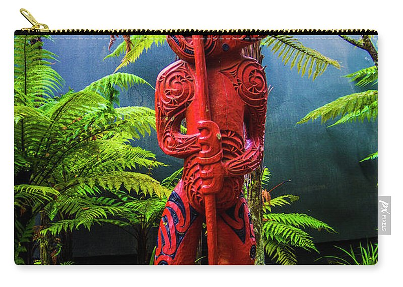Te Whakarewarewa Carry-all Pouch featuring the photograph Trail Guardian by Roberta Bragan