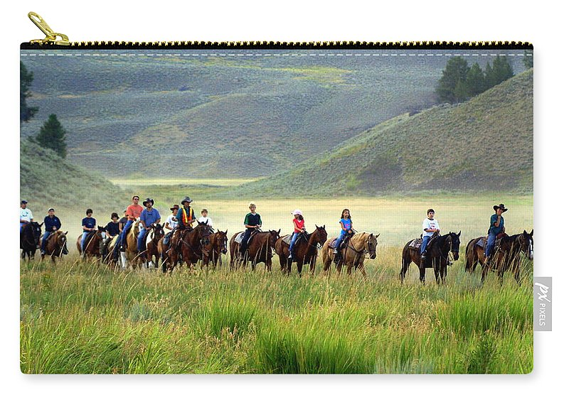 Trail Ride Carry-all Pouch featuring the photograph Trail Ride by Marty Koch