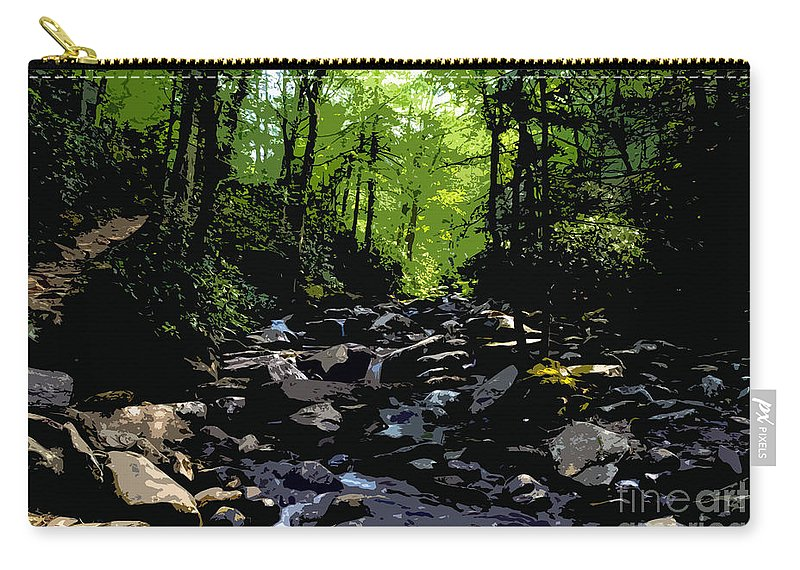 Trail Carry-all Pouch featuring the painting Trail To Chimney Top by David Lee Thompson