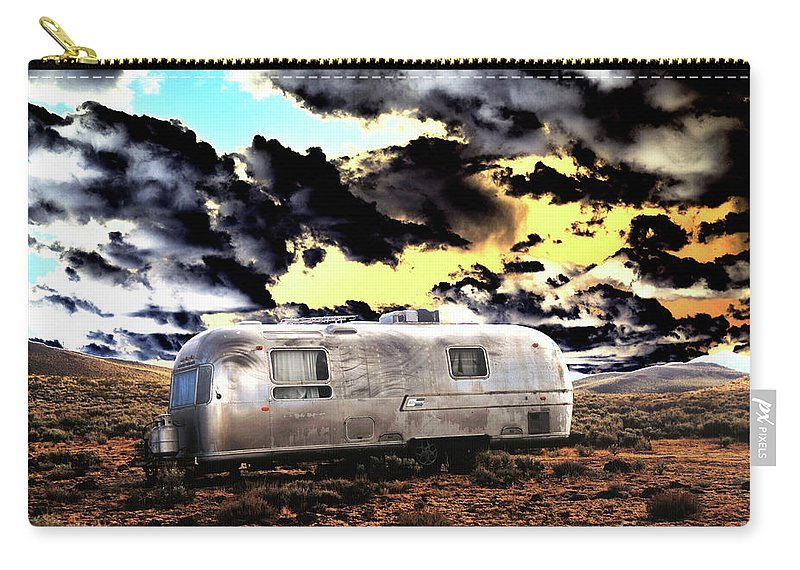 Trailer Carry-all Pouch featuring the photograph Trailer by Jim And Emily Bush
