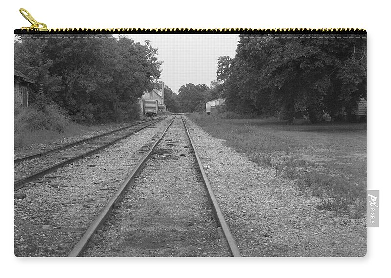 Train Carry-all Pouch featuring the photograph Train To Nowhere by Rhonda Barrett