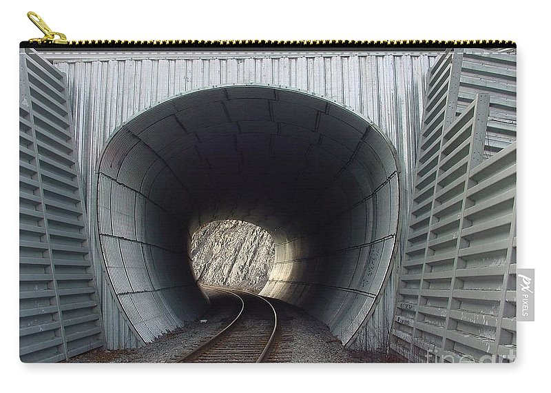 Digital Carry-all Pouch featuring the photograph Train Track by Ron Bissett