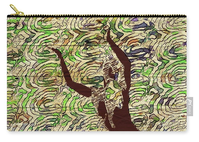 Woman Carry-all Pouch featuring the mixed media Trance Girl No. 3 By Mary Bassett by Mary Bassett